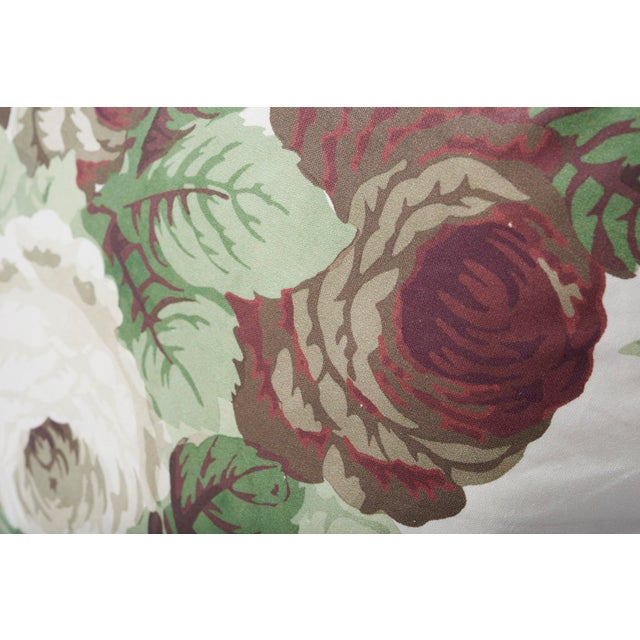 2010s Schumacher Double-Sided Pillow in Nancy Glazed Cotton Print For Sale - Image 5 of 8