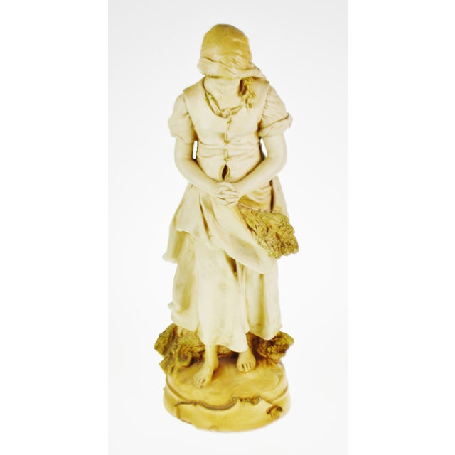 Traditional Marwal Ind. Inc. Vintage L'Angelus Chalkware Statue For Sale - Image 3 of 10