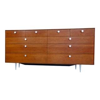 1960s George Nelson for Herman Miller Teak 10 Drawer Thin Edge Dresser For Sale