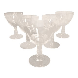 Mid-Century Low Wine Glasses Glasses Italian - Set of 6 For Sale