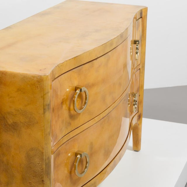 Lacquered Goatskin Commode 1970's For Sale - Image 4 of 8