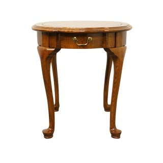 Ethan Allen French Country Burled Wood End / Accent Table For Sale