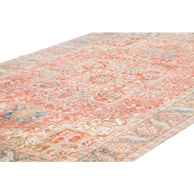Early 20th Century Early 20th Century Antique Heriz Wool Rug For Sale - Image 5 of 11
