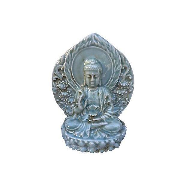 Celadon Buddha Statue - Image 4 of 4