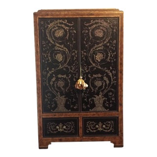 Asian Maitland Smith Armoire/Entertainment Storage For Sale