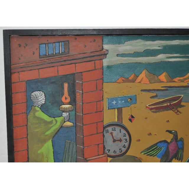 1940s Surreal Painting by R. Sterling For Sale In San Francisco - Image 6 of 8