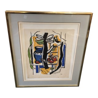 Still Life With Fruits, Lithograph by Fernand Leger For Sale