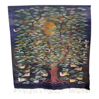 "Swedish ""Tree of Life"" Rug - 49"" x 53.5"""