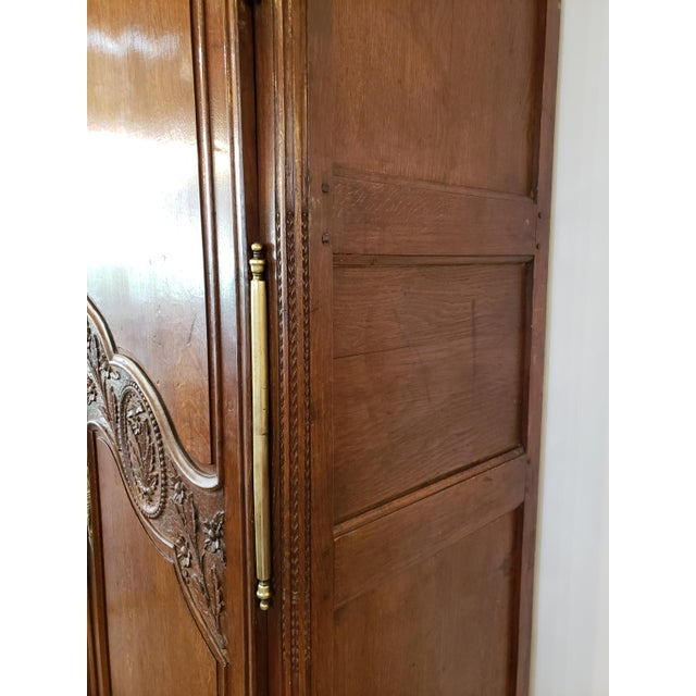 French Provencal Carved Walnut Armoire For Sale In Atlanta - Image 6 of 13