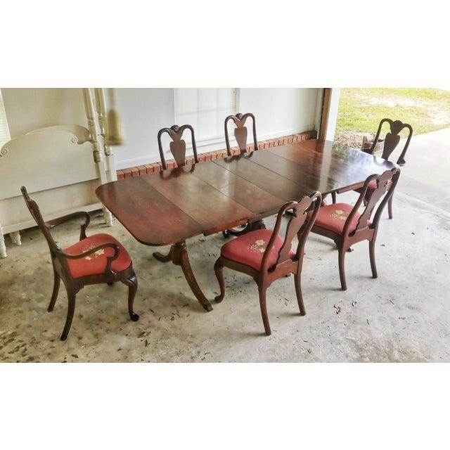 1930's Duncan Phyfe Style Mahogany Dining Set - Image 13 of 13