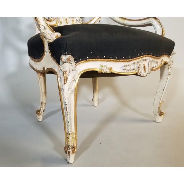 Wood Pair of Late 19th Century Louis XIV Style Signed Maison Jansen Arm Chairs For Sale - Image 7 of 12