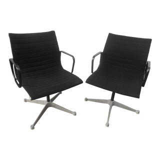 Late 20th Century Herman Miller Eames Aluminum Group Management Chairs- a Pair For Sale