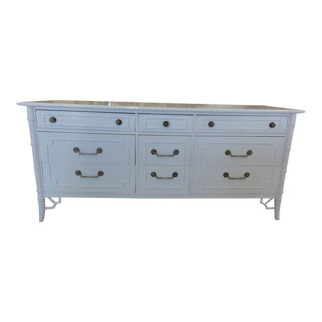 Vintage Newly-Lacquered Faux Bamboo Dresser - Image 1 of 7