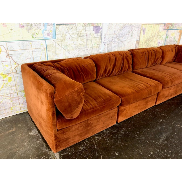 Eight Piece Modular Sofa by Milo Baughman for Thayer Coggin For Sale - Image 10 of 13