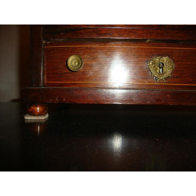 Traditional 19th-Century Miniature Marble Top Chest For Sale - Image 3 of 8