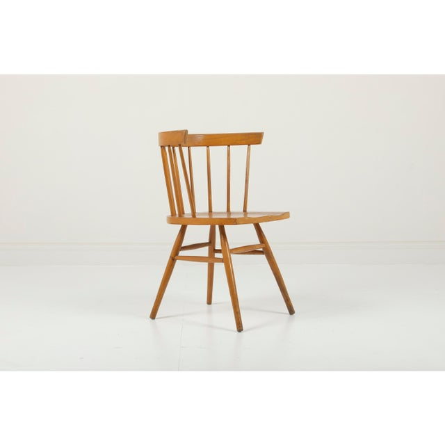 1940s 1940s Vintage George Nakashima for Knoll Straight Chair For Sale - Image 5 of 11