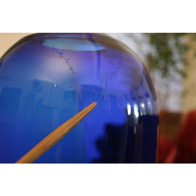 Boho Chic Don Shepherd Blenko 8016 Sculptural Modernist Vase For Sale - Image 3 of 9