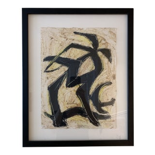 Contemporary Abstract Painting by Hayes, Framed For Sale