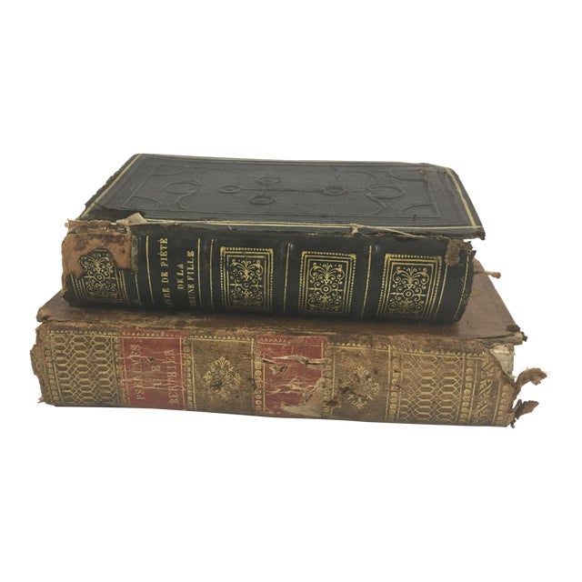 19th Century French Psalms Books - Set of 2 For Sale