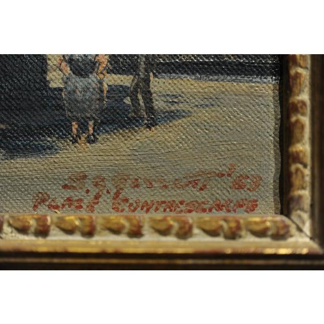 1960s s.g. Garrett -Place De La Contrescarpe ,Paris 1963 - Oil Painting For Sale - Image 5 of 9