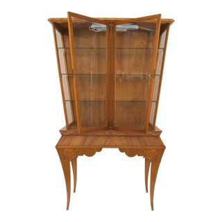 Scandinavian Mid-Century Light Mahogany Display or Vitrine Cabinet For Sale