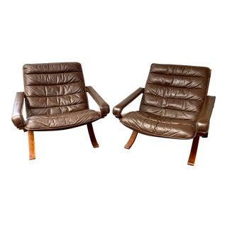 Vintage Mid Century Ingmar Telling for Westnofa Flex Safari Chairs- A Pair For Sale