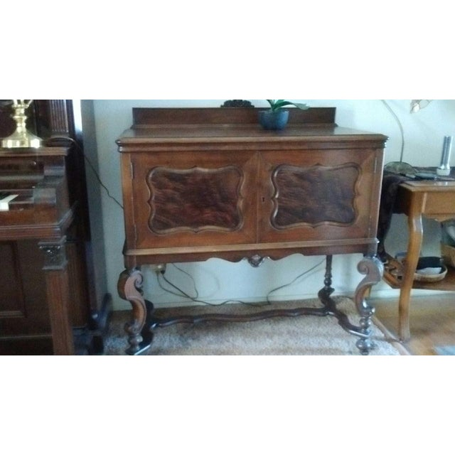 Antique Serpentine Sideboard Buffet - Image 8 of 10