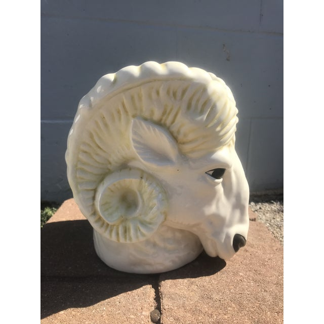 Ceramic 1950's Vintage Ram's Head Ceramic Planter For Sale - Image 7 of 7
