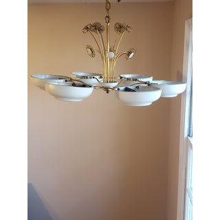 1950s Mid-Century Modern Lightolier Chandelier After Paavo Tynell Preview