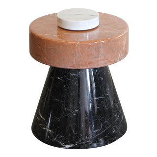 Italian Solid Marble Occasional Table by Giotto Stoppino For Sale