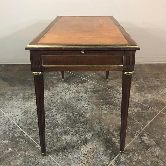 19th Century French Louis XVI Leather Top Desk For Sale - Image 4 of 13