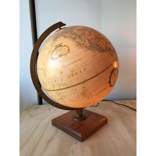 1970 Topographical Light Up Globe - Image 5 of 5