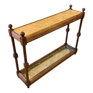 19th Century English Traditional Umbrella Stand Console For Sale
