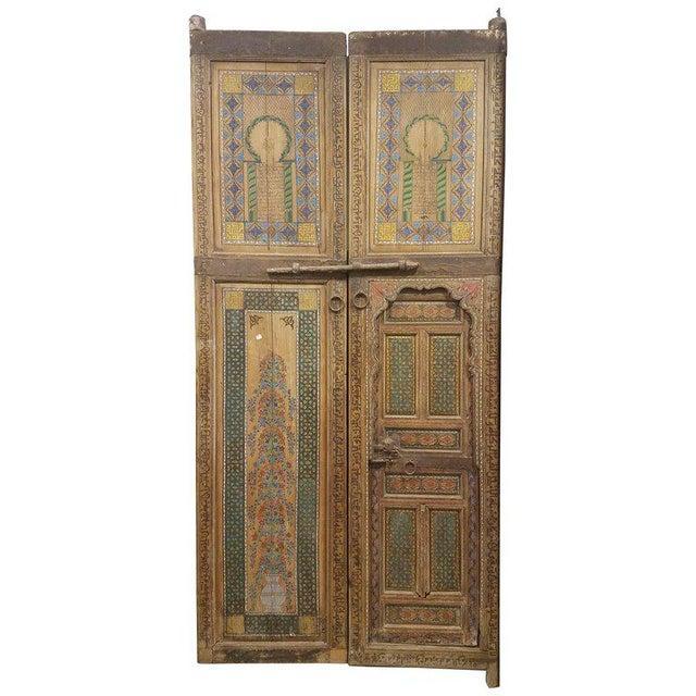 1970s moroccan hand painted double door chairish