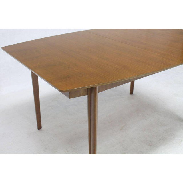dfbeb96f0e85 Mid-Century Modern Widdicomb Walnut Dining Table w  Two Extension Boards  Leaves For Sale