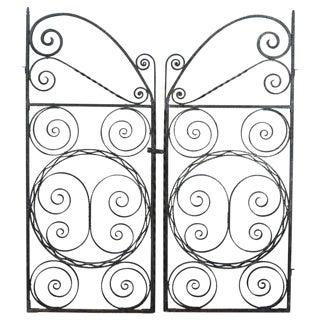 1930s Art Deco Forged Iron Gates For Sale
