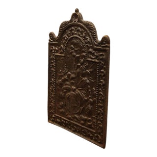 19th C. French Iron Fireback For Sale
