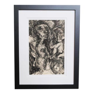 1960s Expressionist Drawing For Sale