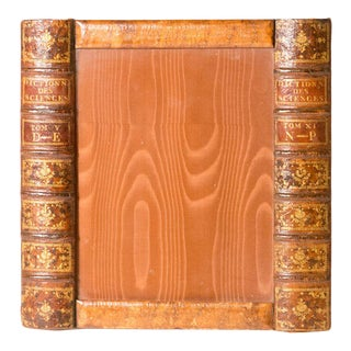 Antique English Book Picture Frame For Sale