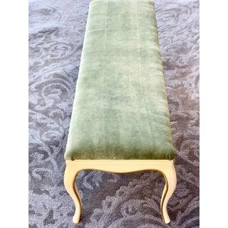 1980s Vintage French Provincial Velvet Upholstered Dressing Bench Preview