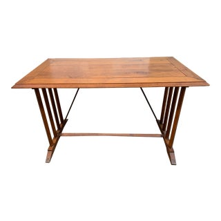 Antique French Cherry Cafe Table-Desk For Sale