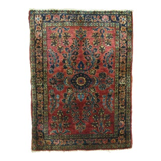 Antique Persian Sarouk, 1'10'' X 2'5'' For Sale