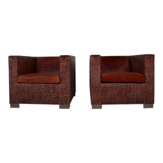 Catawiki Radolfo Dordoni Leather Armchairs - a Pair For Sale