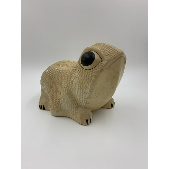 Vintage Chalkware Frog Bank For Sale - Image 11 of 11