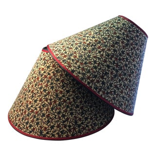 Vintage Fabric Lampshades - A Pair For Sale
