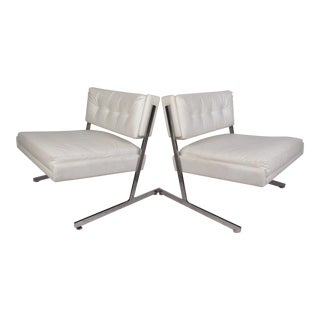 Pair of Mid-Century Harvey Probber Slipper Chairs For Sale