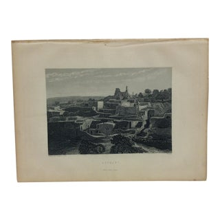 "Antique Original Engraving ""Bethany"" by J. Cramb Circa 1890 For Sale"