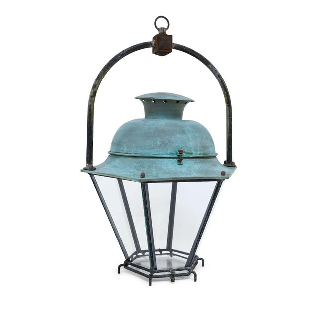 Large Copper French Lantern For Sale - Image 11 of 11