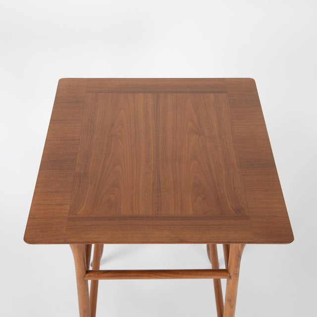 Walnut Nesting Tables Inspired by T.H. Robsjohn-Gibbings, Circa 1990s - a Pair For Sale - Image 9 of 13