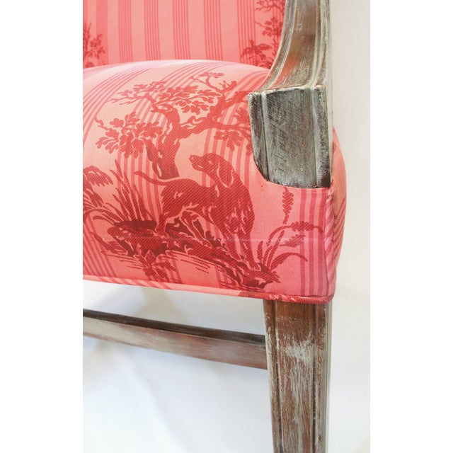Federal Lolling Style Pink Chairs - A Pair - Image 5 of 5